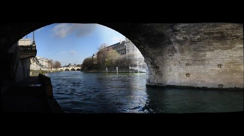 The Least Often Taken Vista in all of Paris - Looking West from Pont Saint-Michel - Paris, France