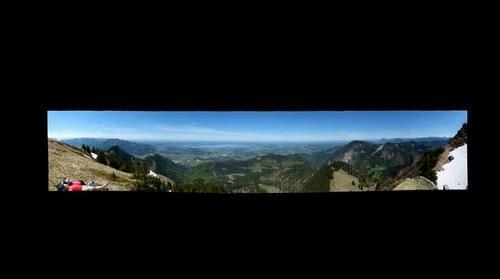 Vista of Lake Chiemsee from Hochgern Peak