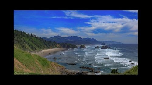 View from Ecola State Park of Cannon Beach