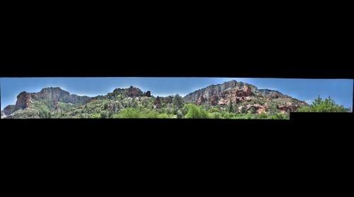 Oak Creek Canyon, seen from Slide Rock SP (2 of 4)