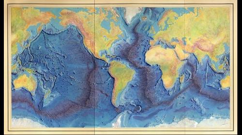 """Heezen-Tharp """"World ocean floor"""" map"""