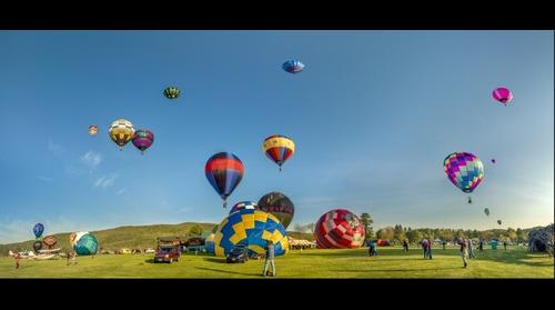 Sky filled with Balloons