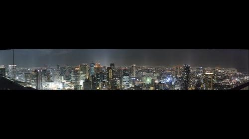 Osaka night view from Umeda Sky Building