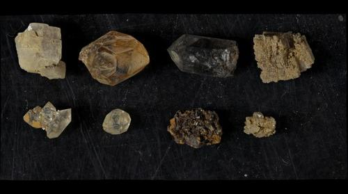 Mineral Grains from a Herkimer Diamond Mine