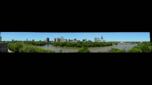 The Forks and Downtown Winnipeg from St. Boniface