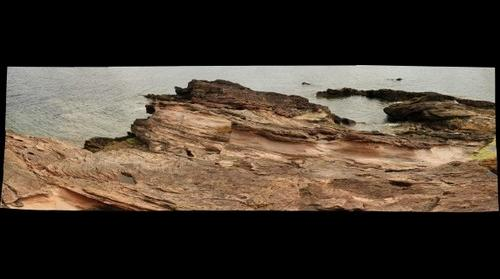 Old Red Sandstone, headland at Dunbar, Scotland