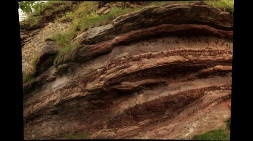 Old Red Sandstone, cliff at Dunbar, Scotland