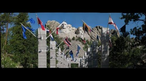 Mount Rushmore, Avenue of Flags, SD
