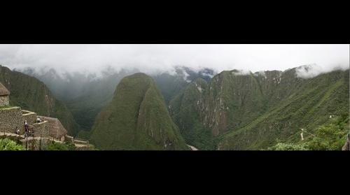 Back view from Machu Picchu
