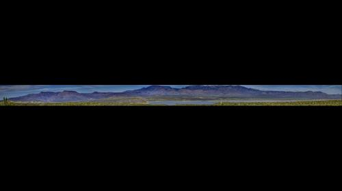 Roosevelt Lake Panorama