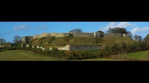 Panorama across Carisbrooke Castle