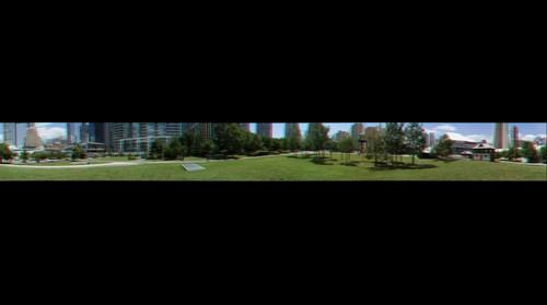 360 degree stereo anaglyph panorama of downtown Toronto in summer