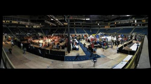 The pit and arena
