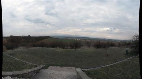 Blick über den Harz vom Bismarckturm auf dem Fallstein aus