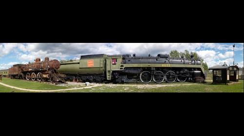 CN 6077 4-8-2 & TNOR 219 4-6-0 steam locomotives