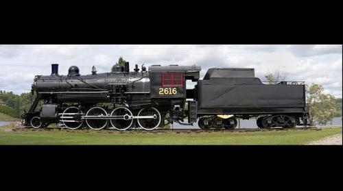 Canadian National Railway 2-8-0 steam locomotive #2616 at Haliburton 2016-Aug-25