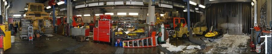 Heavy Equipment Shop - South Pole Antarctica