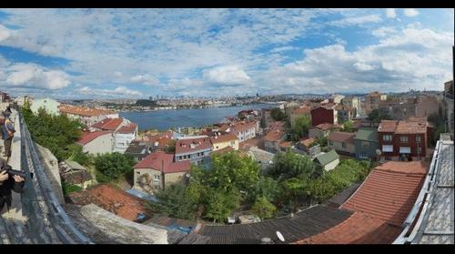 Golden Horn 180°x 150° panorama from Yavuz Sultan Selim Mosque - Vefa - Istanbul