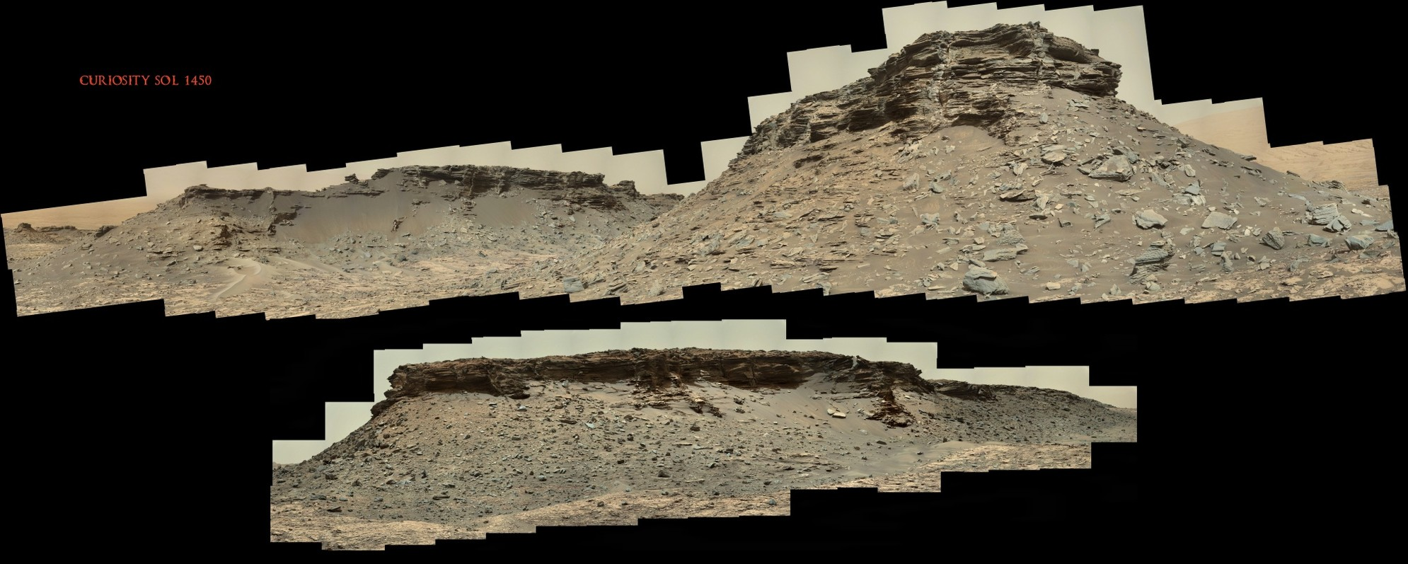 Curiosity Sol 1450 Riding in the Ruins