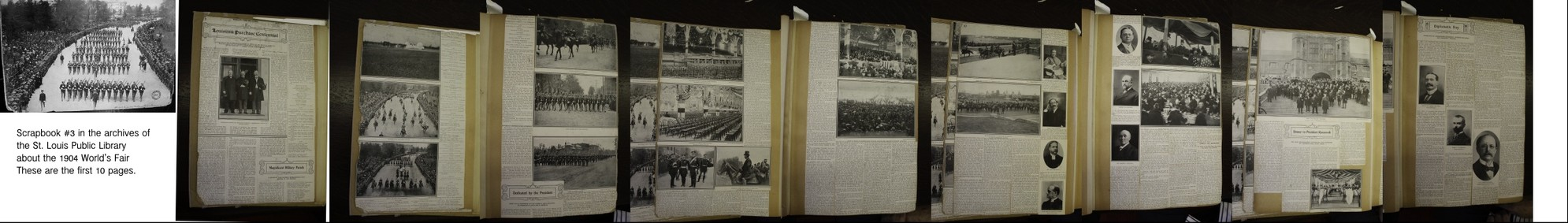 Scrapbook of the 1904 World's Fair - from St. Louis Library