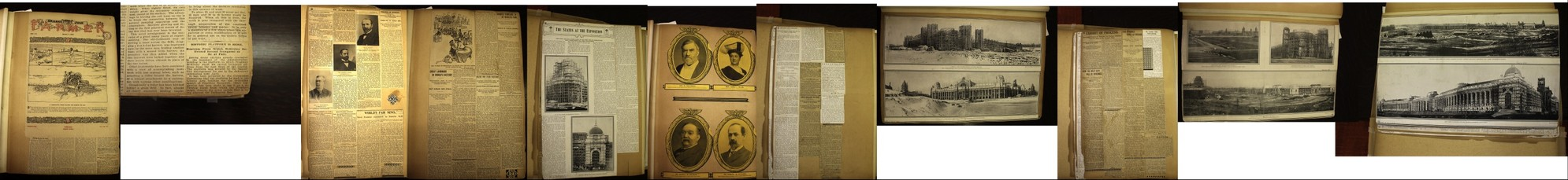 1904 World's Fair Scrapbook from Public Library in St. Louis