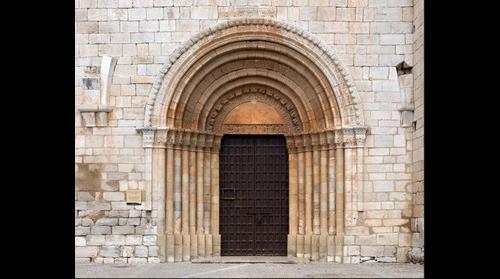 Romanesque portico, Pla de Santa Maria (Catalonia)