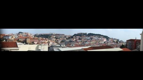 Lisbon, looking towards Castelo de Sao Jorge