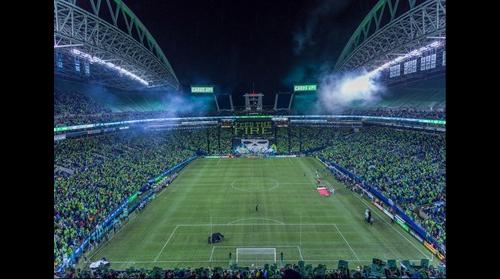 Emerald City Supports tifo plus Sounders FC card display 11/22/16