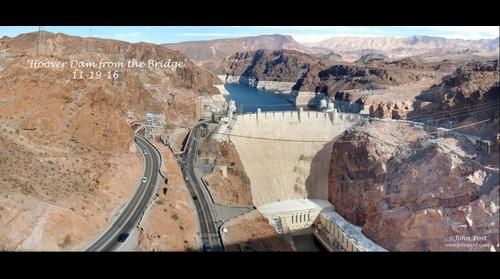 Hoover Dam from the Bridge, Colorado River, Lake Mead
