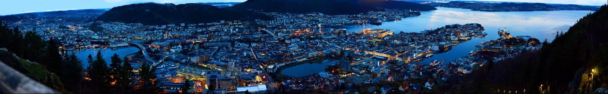 Norway Bergen Panorama Wide