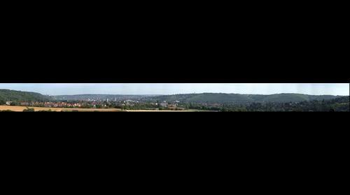 Wuerzburg - aufgenommen vom neuen Autobahnbruecke