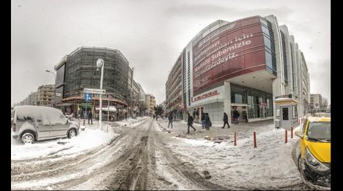 Snow in Istanbul-3 Kadikoy HDR Panorama