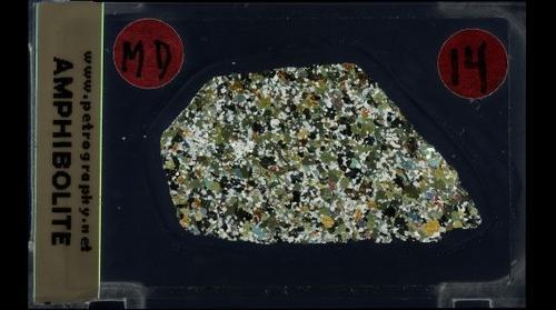 Amphibolite, Crossed Polars