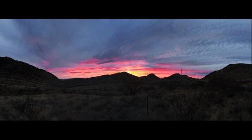 Sunset near Chiricahua National Monument