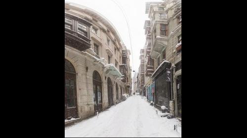 Snow in Istanbul 19 - Pera - Galata