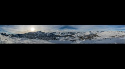 Sun Valley & Bald Mountain from top of Dollar Mountain