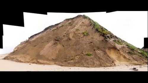 Ft Ord Dunes State Beach -- Slump on Seacliff