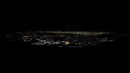 Panoramic: Salt Lake City at night