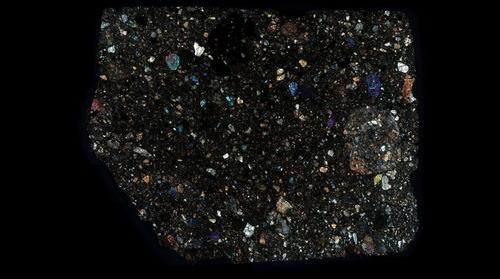 NWA 8595 Meteorite Thin Section