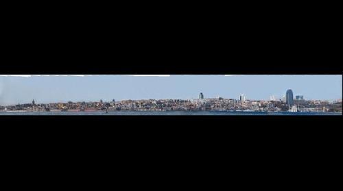 Istanbul Europian Side Panorama - From Karaköy to Dolmabahçe