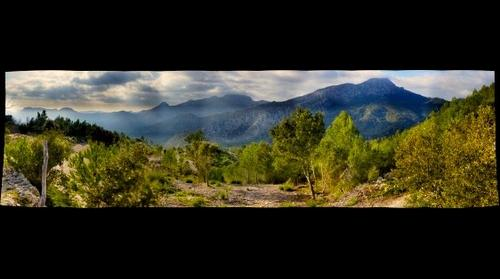 Tramuntana Mountains west of Galilea Mallorca