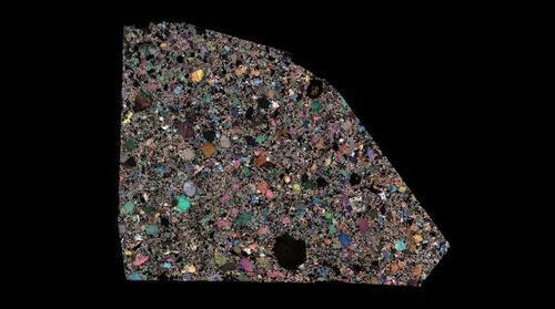 NWA 7317 Meteorite Thin Section
