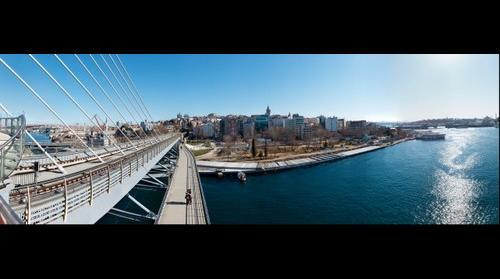 Haliç Metro Köprüsünden Istanbul  Panorama