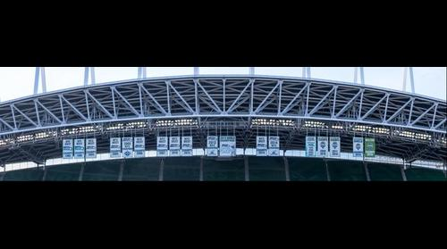 Centurylink Field Seahawks & Sounders FC banners