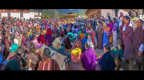 Crowd at Jambey Lhakang Festival