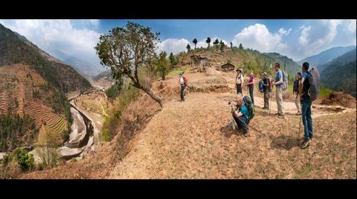 Above the Khimti  Khola Valley