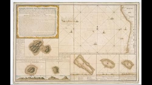 1st European contact with Easter Isle, 5 April, Easter Sunday, 1722 by Dutchman Roggeveen