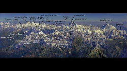 Himalayan Mountains of Khumbu
