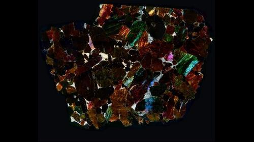 NWA 2737 Meteorite Thin Section