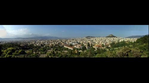 Μερική άποψη της Αθήνας από τον βράχο του Αρείου Πάγου